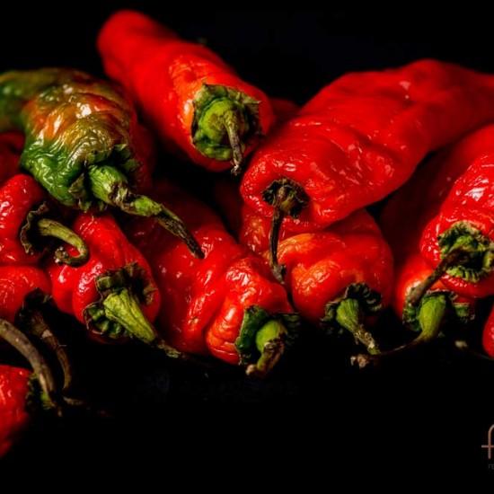 Pimientos rojos en Restaurante Fierro